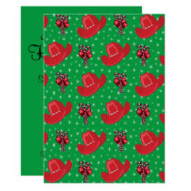 Western Holiday Party Cowboy Hats And Candy Canes Invitation