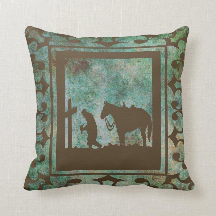 Rodeo Home Decor: Western Home Decor Cowboy Prayer Pillow