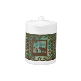 Western Home Decor Tea Pot Cowboy Prayer