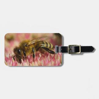 Western Honey Bee Macro Luggage Tag