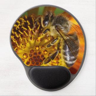 Western Honey Bee Macro Photo Gel Mouse Pad