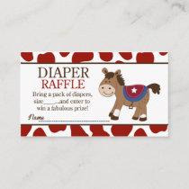 Western Horse Baby Shower Diaper Raffle Enclosure Card