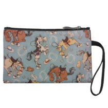 Western Horse Cartoon Wristlet Wallet