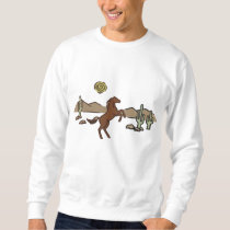 Western Horse Embroidered Sweatshirt