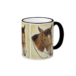 Western Horse Mug in Black