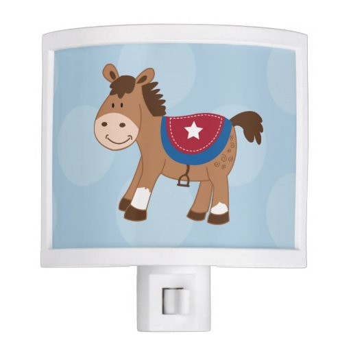 Western Horse Nursery Night Light