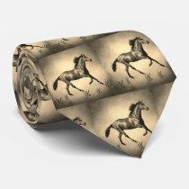 Western Horse Print Necktie