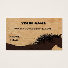 Western Horse Silhouette Business Cards at Zazzle
