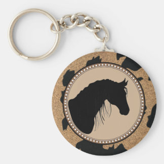 Western Horse Silhouette Keychain