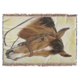 Western Horse Throw Blanket