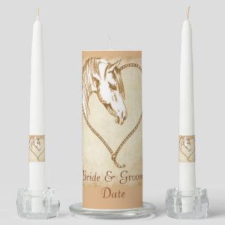 Western Horse Unity Wedding Candle