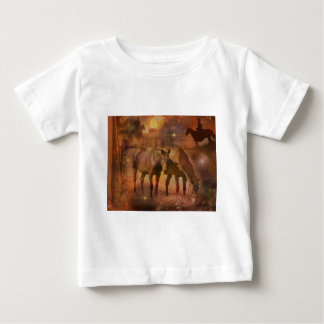 Western Horses and Cowboys Baby T-Shirt