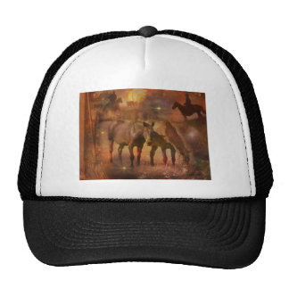 Western Horses and Cowboys Trucker Hat