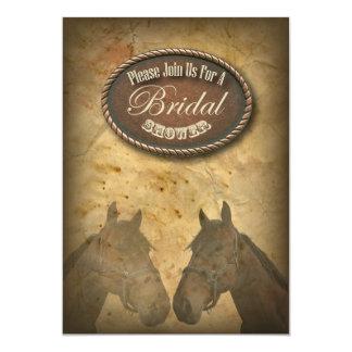 "Western Horses Cowgirls Bridal Shower Invitation 5"" X 7"" Invitation Card"