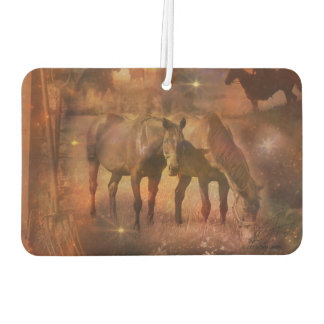 Western Horses Grazing Car Air Freshener