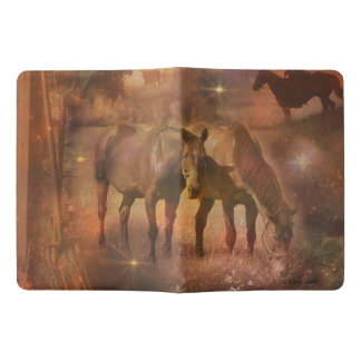 Western Horses Grazing Extra Large Moleskine Notebook Cover With Notebook