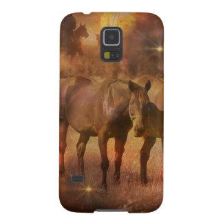 Western Horses Grazing Galaxy S5 Case