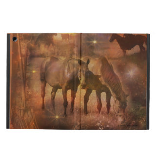 Western Horses Grazing iPad Air Case