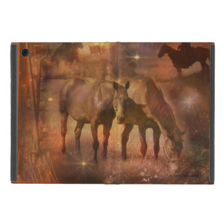 Western Horses Grazing iPad Mini Cover