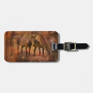 Western Horses Grazing Luggage Tag
