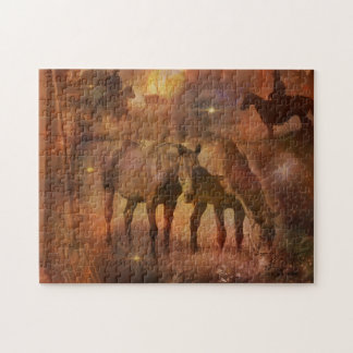 Western Horses Grazing Puzzle