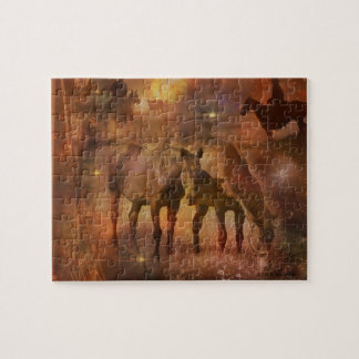 Western Horses Grazing Puzzles