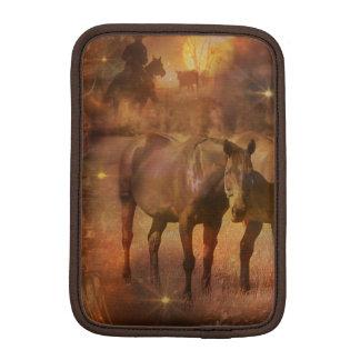 Western Horses Grazing Sleeve For iPad Mini
