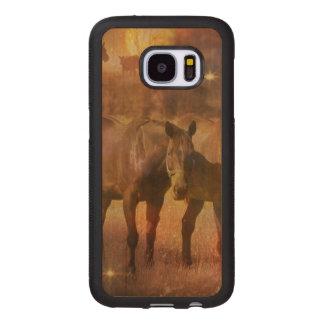 Western Horses Grazing Wood Samsung Galaxy S7 Case
