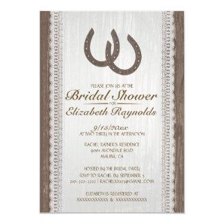 "Western Horseshoe Bridal Shower Invitations 5"" X 7"" Invitation Card"