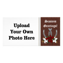 Western Horseshoe Holiday Photo Card