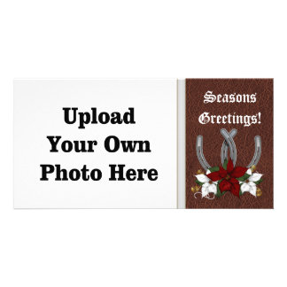 Western Horseshoe Holiday Photo Card