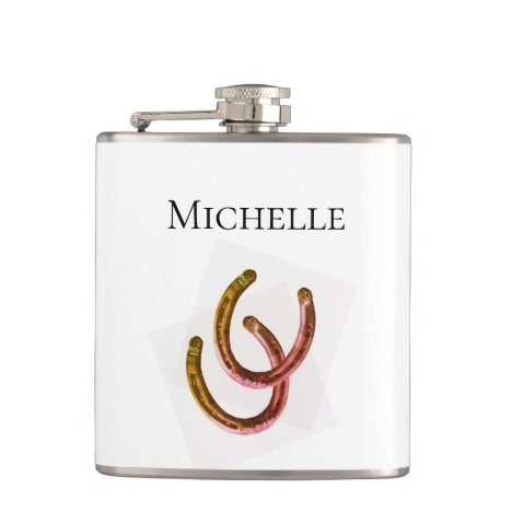 Western Horseshoe Monogram Cowgirl Flask