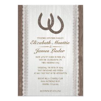 "Western Horseshoe Wedding Invitations 5"" X 7"" Invitation Card"