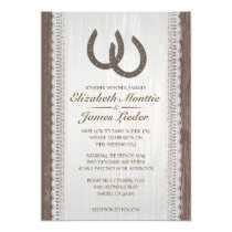 Western Horseshoe Wedding Invitations Card