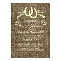 Western Horseshoes Bridal Shower Invitations Card