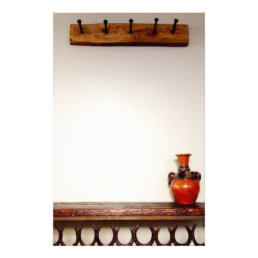 Western Horseshoes Railroad Spikes Southwest Vase Stationery