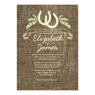 "Western Horseshoes Wedding Invitations 5"" X 7"" Invitation Card"