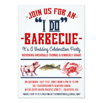 "Western ""I Do"" Barbecue Wedding Party Invitations"