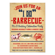 """Western """"I Do"""" Barbecue Wedding Party Invitations"""