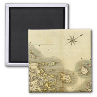 Western Isles Middle 2 Inch Square Magnet