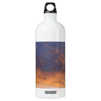 Western Kansas Sunset with Barn Aluminum Water Bottle