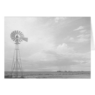 Western Kansas Windmills Series Greeting Card