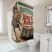 Western King Of The Rodeo Cowboy Shower Shower Curtain