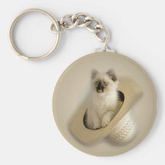 western_kitty_ornament keychain