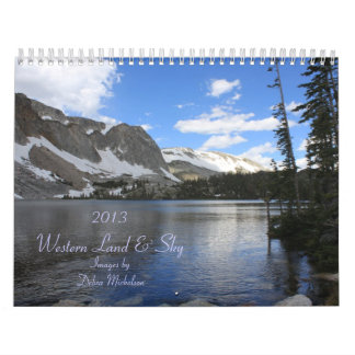 Western Land and Sky Scenic Calendar
