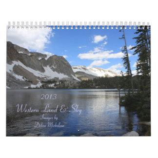 Western Land and Sky Scenic Calendar