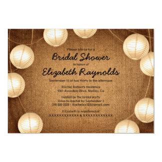 Western Lantern Bridal Shower Invitations Custom Announcements