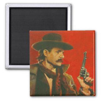 Western Lawman Illustration Magnet