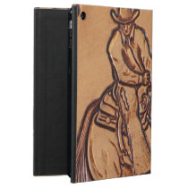 Western leather horseback Riding Rodeo Cowboy Cover For iPad Air