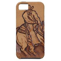 Western leather horseback Riding Rodeo Cowboy iPhone SE/5/5s Case